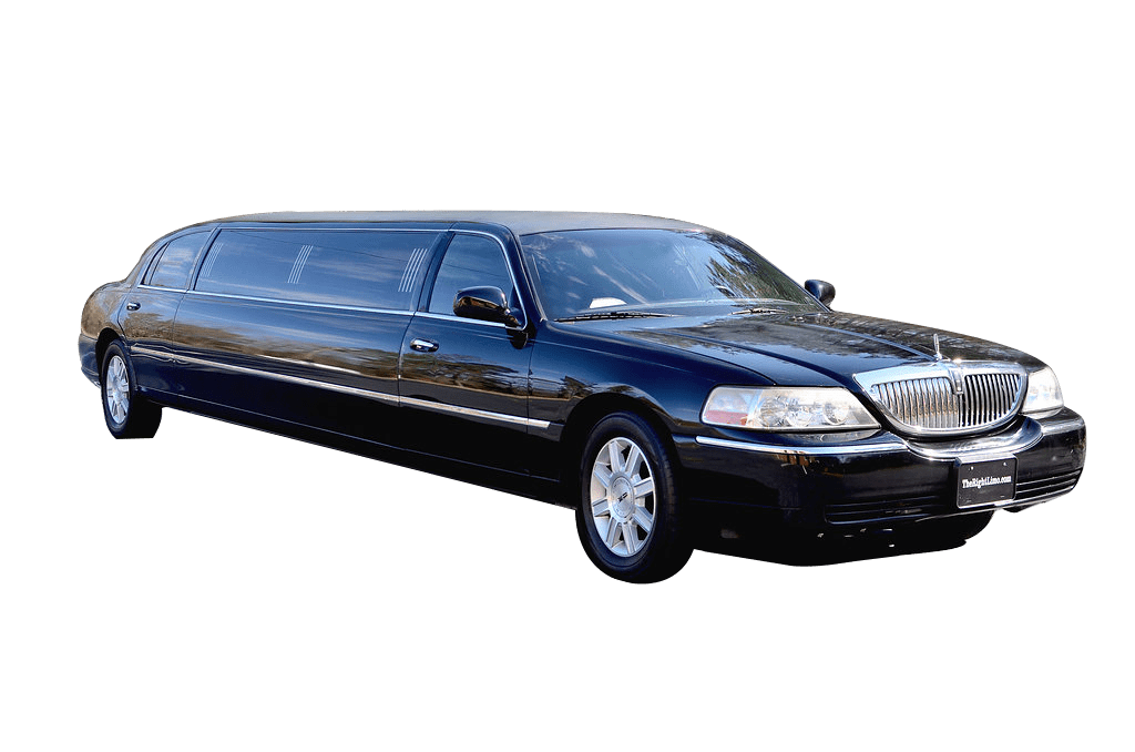 Black Lincoln Town Car Stock Photo