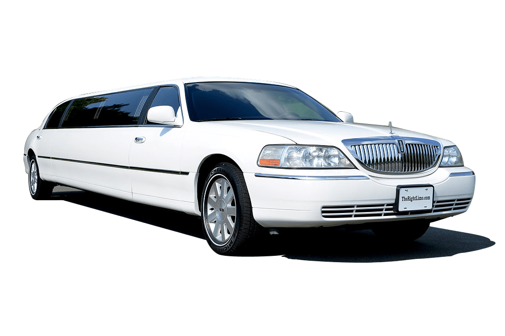 White Lincoln Town Car Stock Photo
