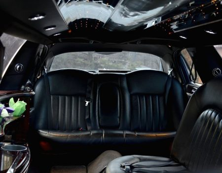 Black Lincoln Town Car Back Seat