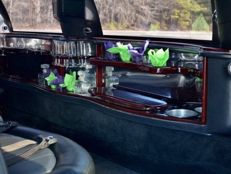 Black Lincoln Town Car Bar