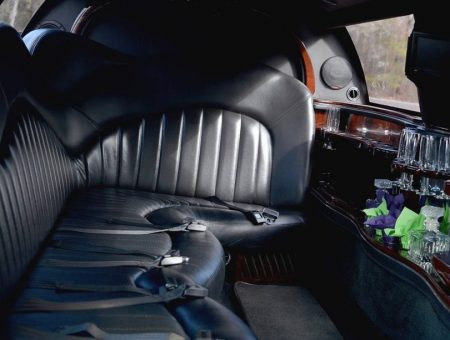Black Lincoln Town Car Inside