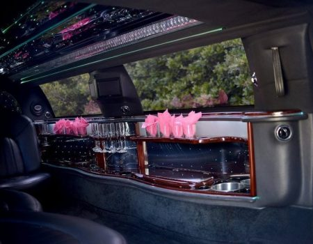White Lincoln Town Car Bar